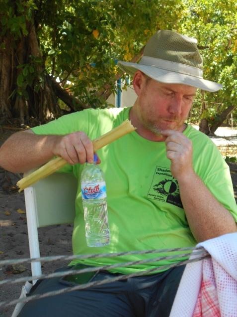 Duncan Eating Sugar Cane