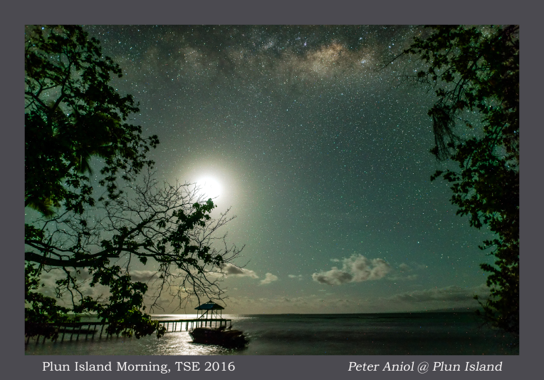 Plun Island Morning with Moon and Milkyway